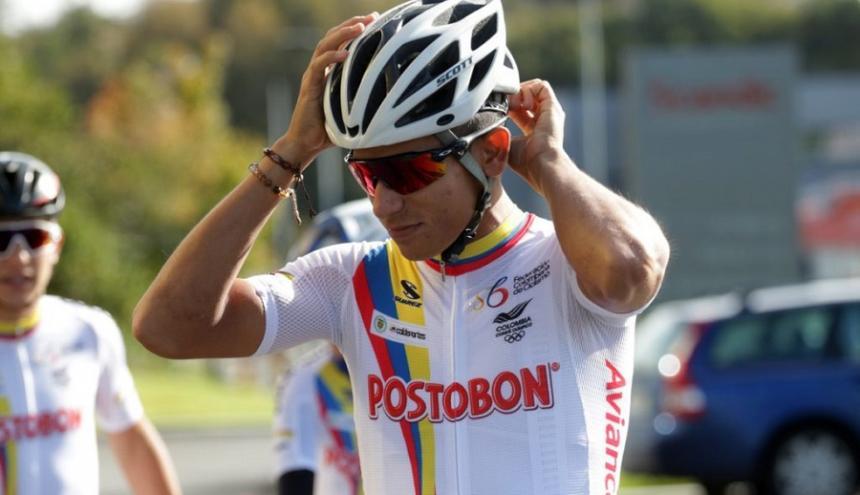 El ciclista barranquillero Nelson Soto en el Mundial de ciclismo en Noruega.