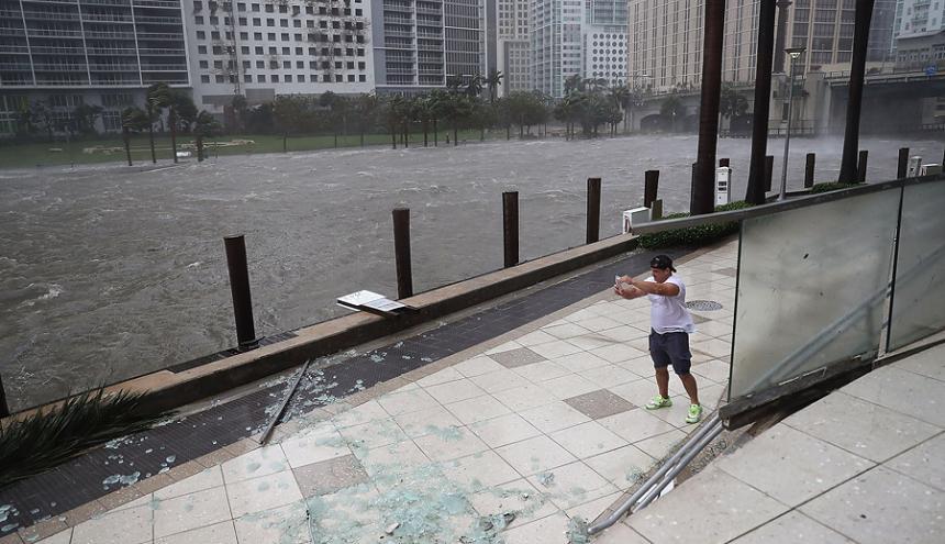 El huracán Irma azotó áreas de Estados Unidos como Miami.