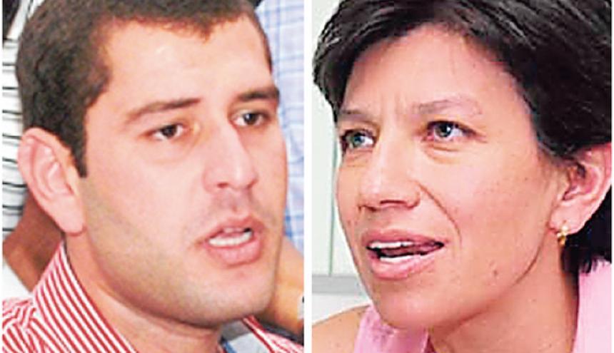 Luis Miguel Cotes y Claudia López