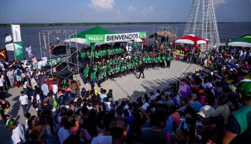 El evento de clausura de 'Casas' que acogió a  niños, jóvenes y adultos de B/quilla.