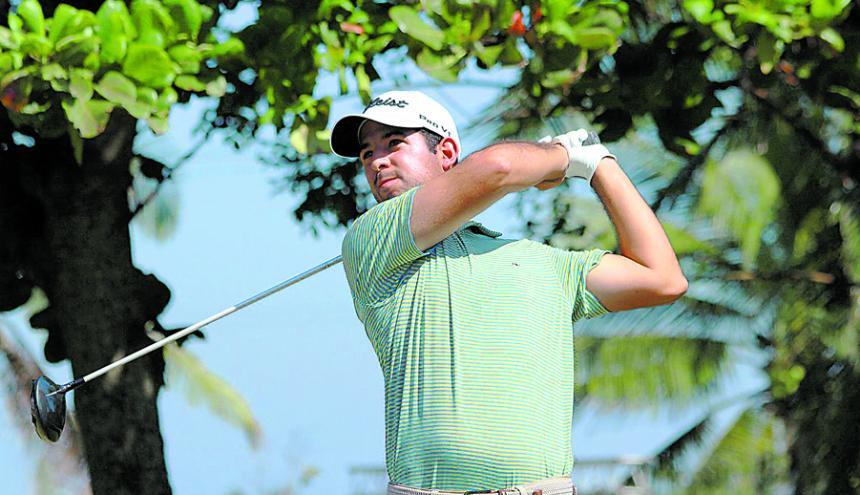 El golfista Santiago Gómez en el Abierto Internacional de Golf del Caribe.