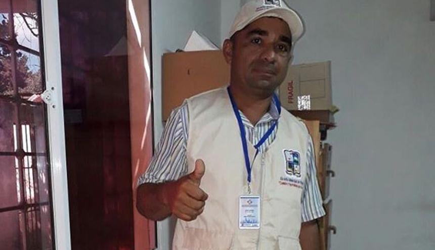 José Rafael De La Hoz Villa, integrante de la Mesa de Participación de Víctimas, del municipio de Pivijay.
