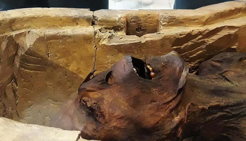 El Museo Egipcio de El Cairo exhibe la 'momia aulladora'.