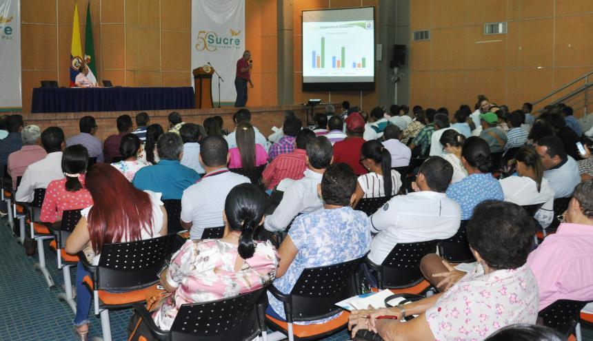 Los rectores de los colegios oficiales de Sucre se reunieron con el personal de la secretaría de Educación.