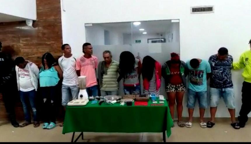 Los capturados en la fotografía de reseña en la URI de la Fiscalía.