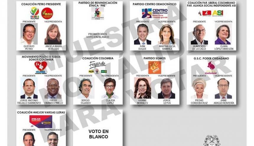 Aspecto de la tarjeta electoral de cara al 27 de mayo.