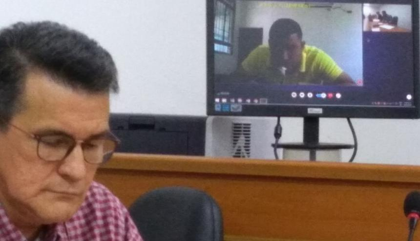 Levith Rúa Rodríguez estuvo presente de manera virtual en la audiencia que fue aplazada.