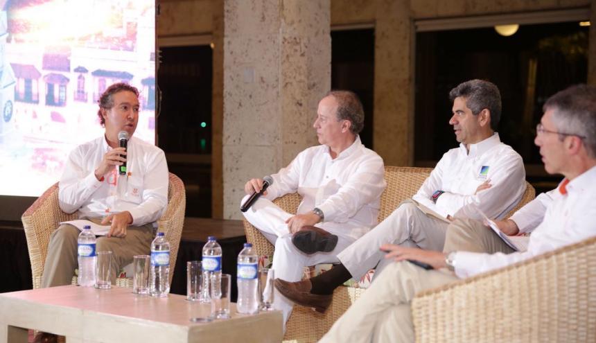 El líder de Celsia, Ricardo Sierra, en la presentación de los proyectos en Cartagena.