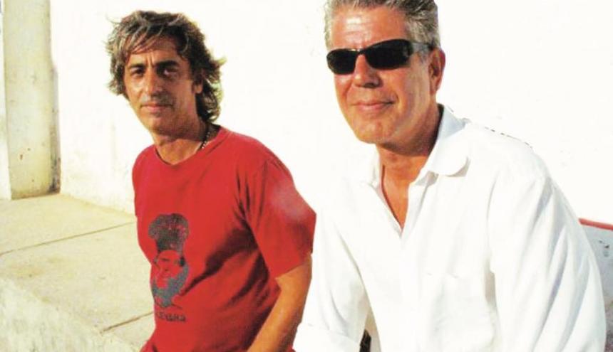 Jorge Escandón junto al reconocido chef Anthony Bourdain.