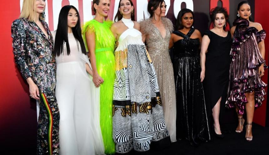"""Las actrices protagonistas de la edición femenina de """"Ocean's 8' el día del estreno."""