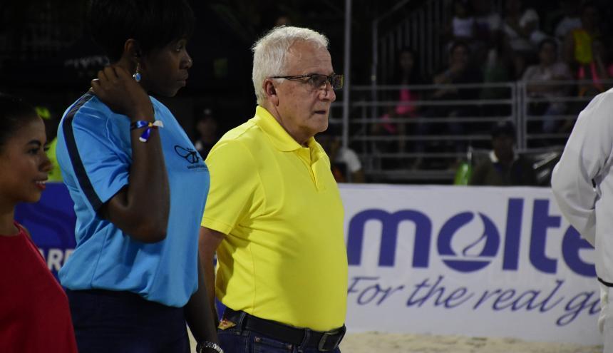 Baltazar Medina, presidente del COC, durante los Juegos Centroamericanos y del Caribe 2018.