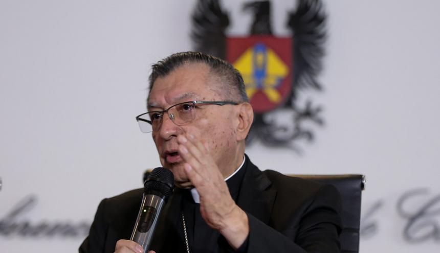 Monseñor Óscar Urbina, presidente de la Conferencia Episcopal de Colombia.