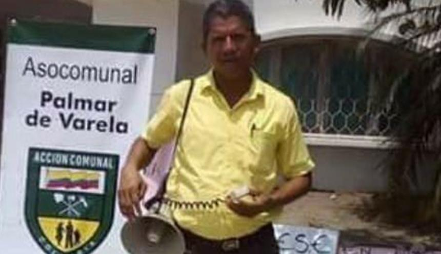 Luis Barrios Machado, asesinado el pasado 3 de julio en Palmar de Varela.