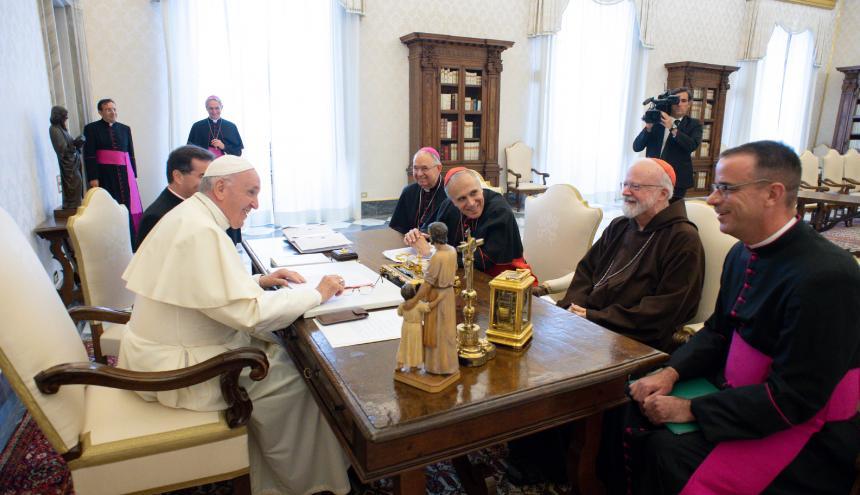 El Papa reunido con representantes de la Conferencia de Obispos de EE.UU.