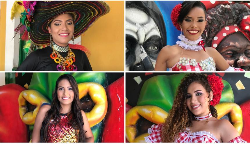 Brenda Márquez, El Bosque (arriba izquierda), Daniela López, La Alboraya (arriba derecha), Kati García, La Alboraya (abajo izquierda), Yavianis Gutiérrez, Rebolo (abajo derecha).
