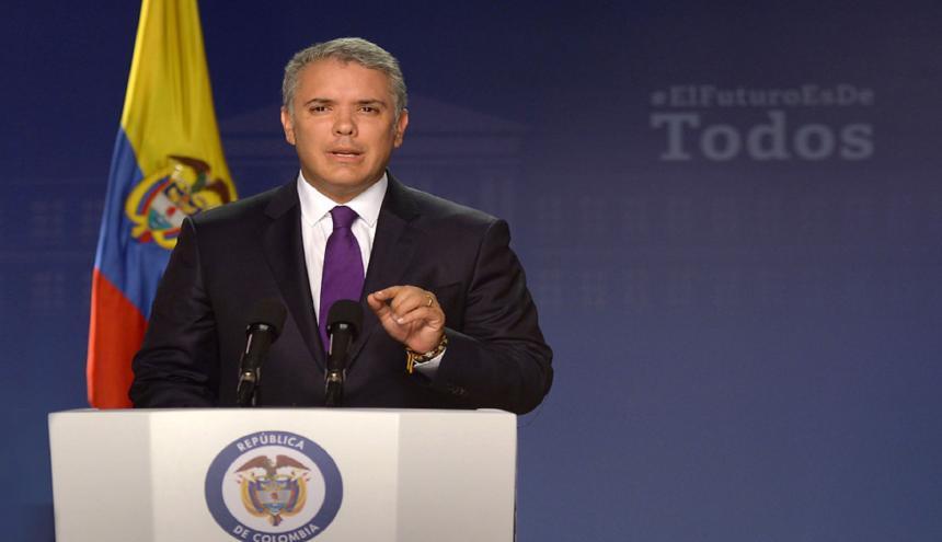 Iván Duque, presidente de Colombia.
