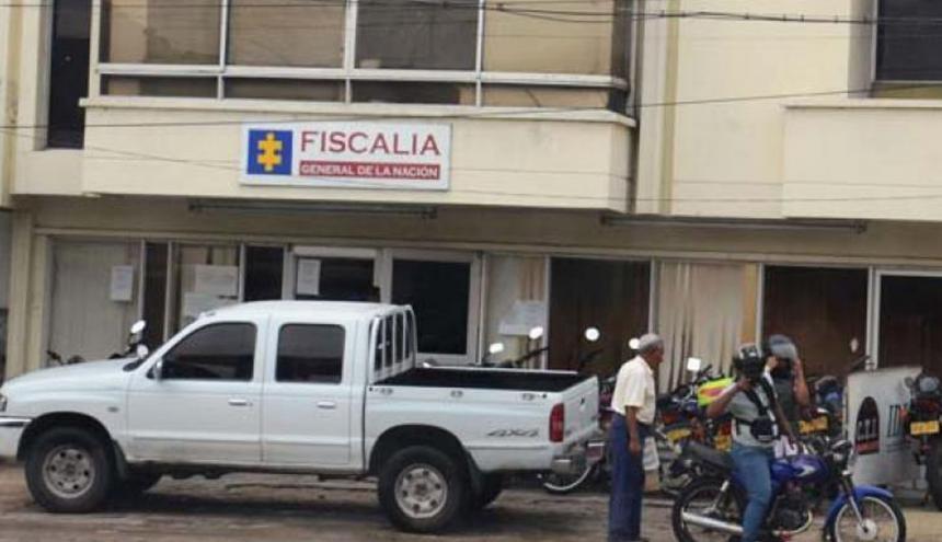Fachada de las oficinas de la Fiscalía en Soledad.
