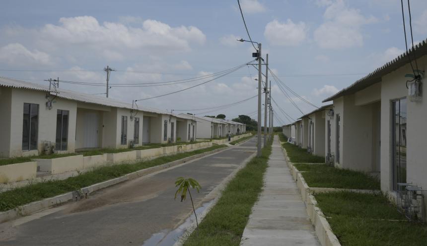 Aspecto de las viviendas del proyecto habitacional 'Candelaria Real I' que aún no han sido entregadas.