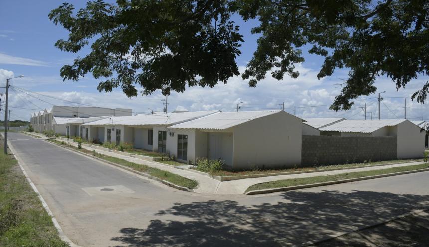 Estas son las viviendas entregadas ayer en Campo de la Cruz.
