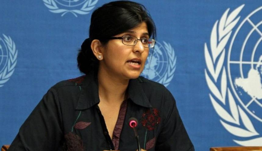 Ravina Shamdasani, portavoz del Alto Comisionado de las Naciones Unidas para los Derechos Humanos.