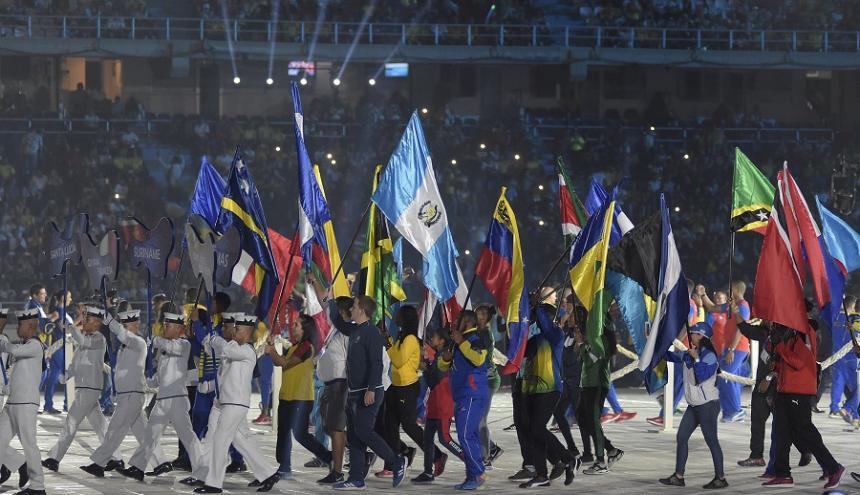 Clausura de los Juegos Centroamericanos y del Caribe en el estadio Metropolitano.