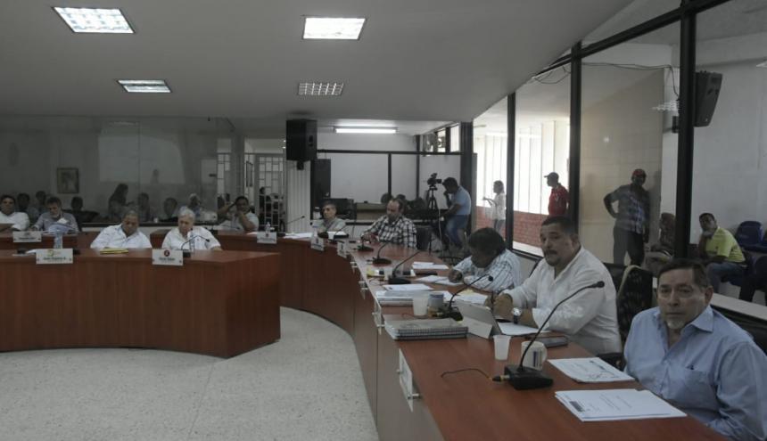 Cabildantes durante el debate en el recinto del Concejo de Barranquilla.