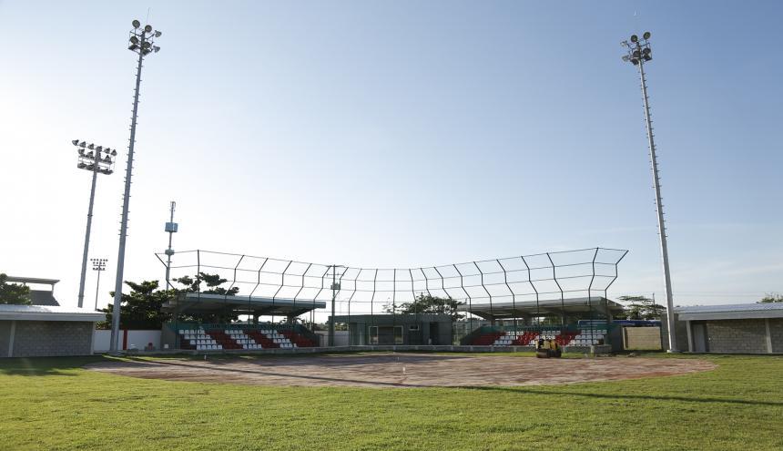 El moderno estadio de sóftbol de Puerto.