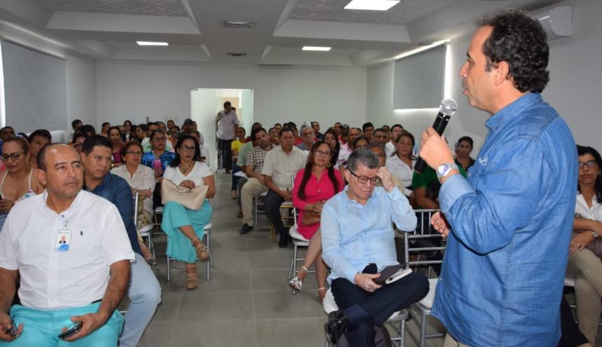 Superintendente se reunió con secretario de Salud y gerentes de EPS de Sucre.