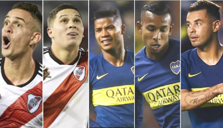 Santos Borré, Quintero, Barrios, Villa y Cardona.