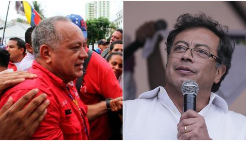Diosdado Cabello y Gustavo Petro.