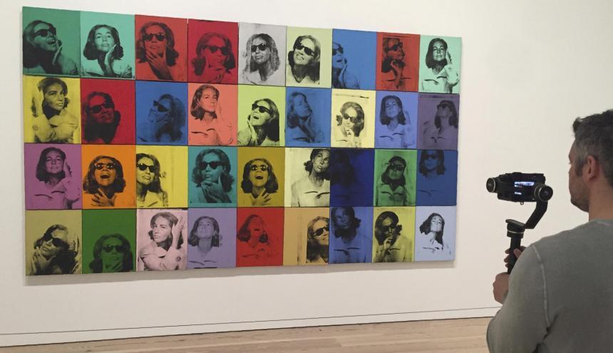 Exhibición de Warhol en el museo Whitney.