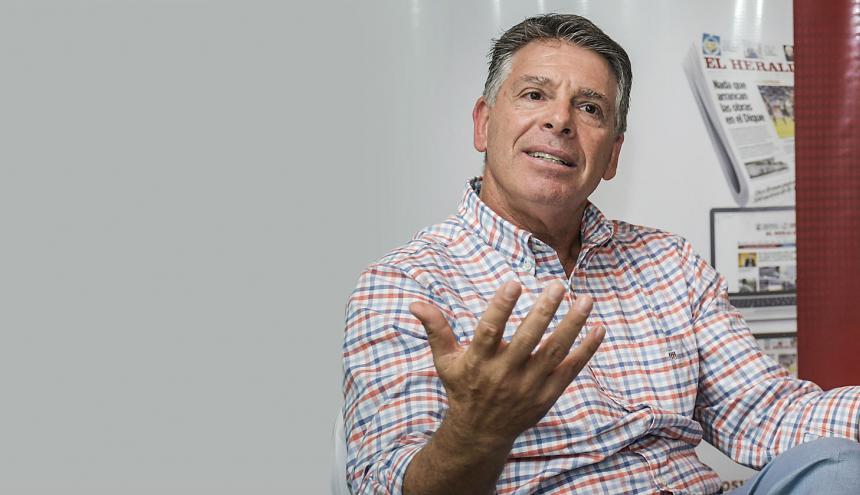 Yonatan Bursztyn durante la entrevista a El Heraldo.