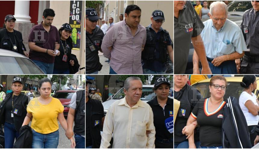 Seis de las personas capturadas la mañana de este miércoles en distintos puntos de Barranquilla.