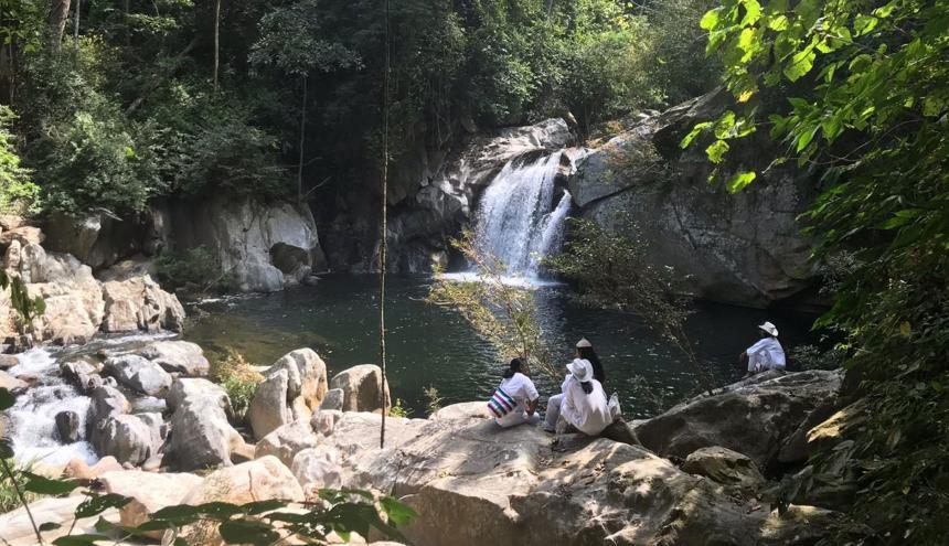 La cascada Matuna es uno de los principales atractivos ecológicos del recorrido natural.