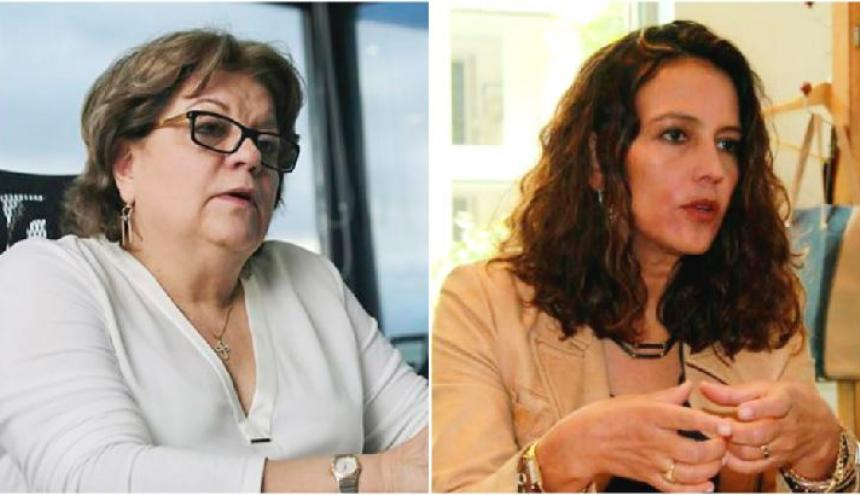 Gloria Borrero, ministra de justicia y Nancy Patricia Gutiérrez, ministra del interior.