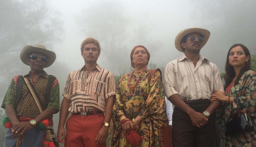 Fotografía de la cinta colombiana 'Pájaros de verano', grabada en La Guajira.