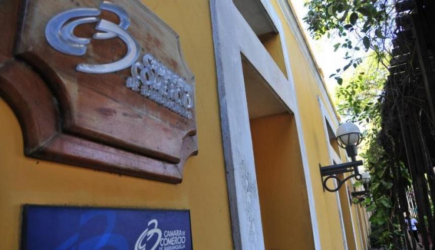 Fachada de la Cámara de Comercio de Barranquilla.