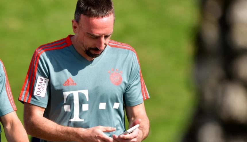 Franck Ribery, jugador francés.