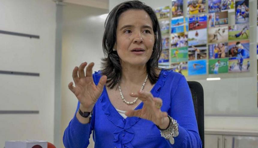 Sylvia Constaín, ministra de las TIC.