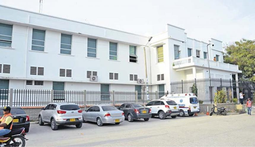 Hospital San Cristóbal del municipio de Ciénaga, en donde permanece bajo la observación de especialistas el líder baleado.