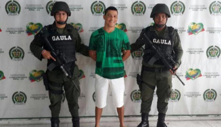 Wilmer Alvarado Macías, alias Billete, miembro de la estructura 'Los Costeños'.