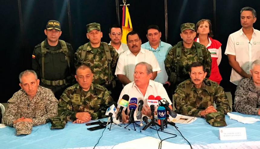 Consejo de seguridad realizado la semana pasada en el departamento de Córdoba.