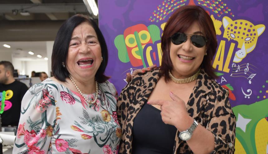 La coreógrafa Gloria Peña junto a la cantante dominicana Belkis Concepción.