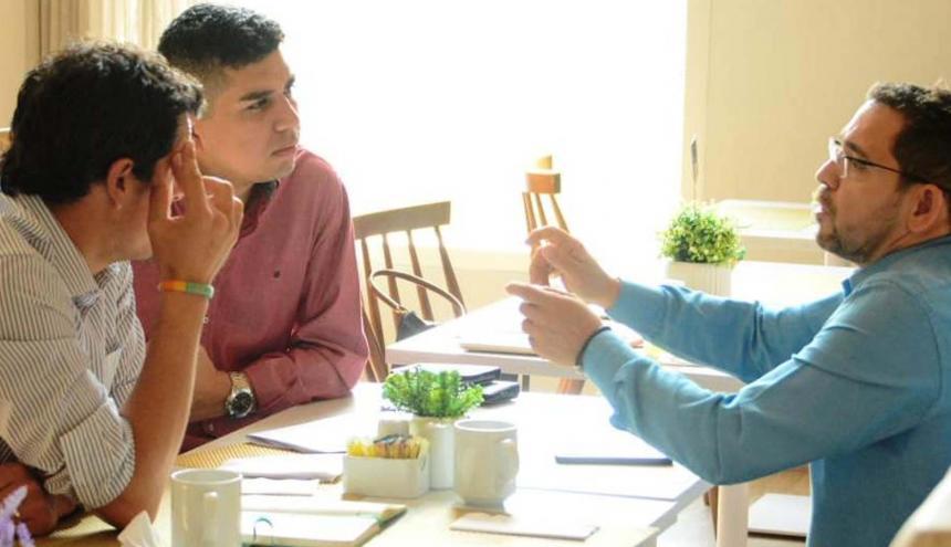 El alcalde de Santa marta reunido con el Ministro de Vivienda Jonathan Malagón.