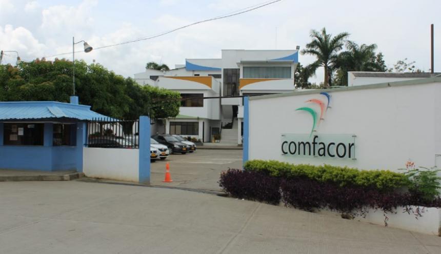 Fachada de la sede administrativa de la EPS Comfacor, ubicada en la capital de Córdoba.