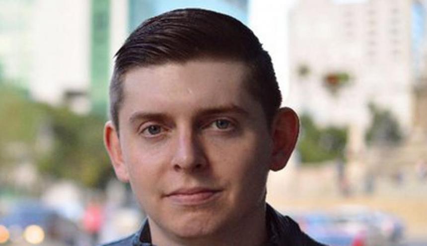 Cody Weddle, periodista estadounidense liberado por el gobierno de Maduro.
