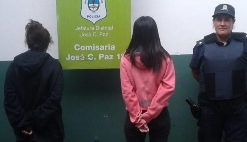 Paola Córdoba y su hija fueron capturadas por la Policía.