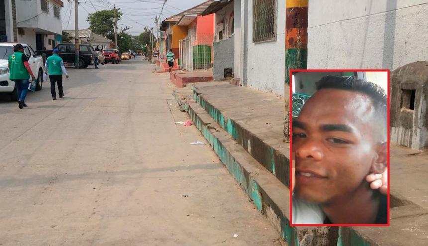 Lugar donde se registraron los hechos. En el recuadro, José Gregorio Ferrer Jurado, la víctima.