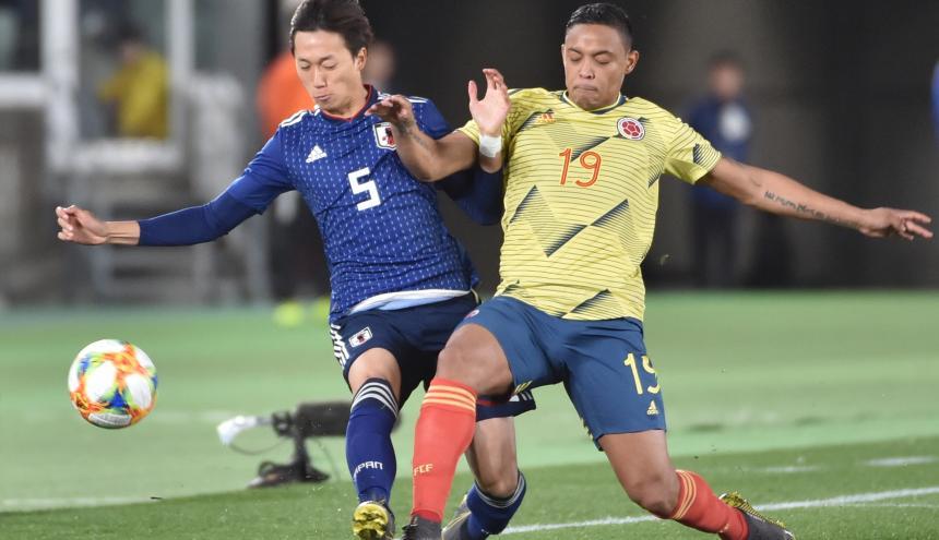 Muriel en una acción del juego contra Japón.
