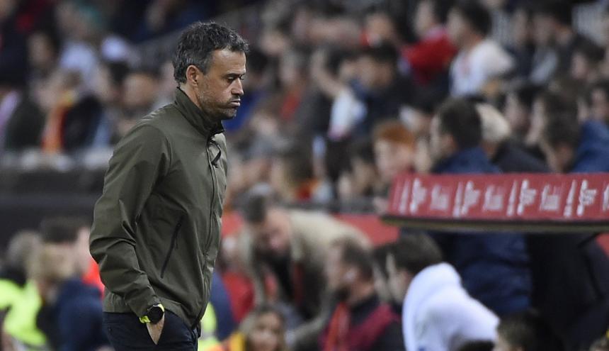 Luis Enrique, entrenador de la selección de España.